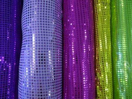 Sequin Jersey Fabric 5mm Spot Lurex