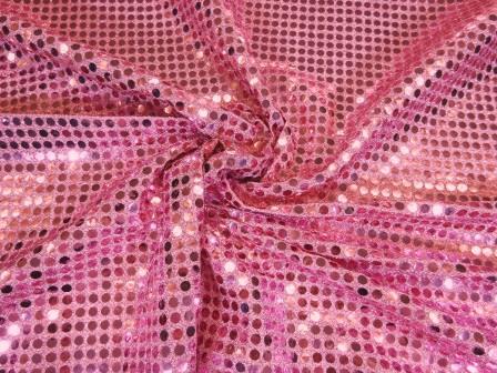Sequin Jersey Fabric 5mm Spot Lurex pale pink