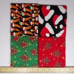patchwork fat quarters twinkle trees green