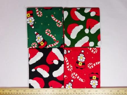 patchwork fat quarters red canes