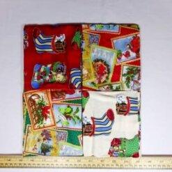 patchwork fat quarters cream stockings