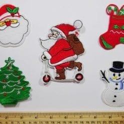 Christmas sew on motifs