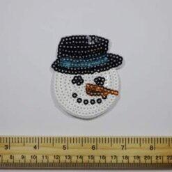 Snowman Sequin Sew On Motif
