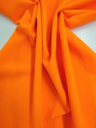 Hi Vis Fluorescent orange Polyester Suiting