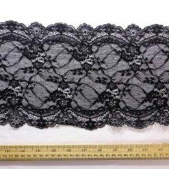 Black Lace Trimming Stretch Code 5907