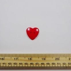 Red Large Heart Buttons
