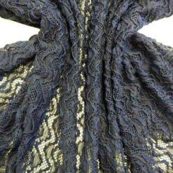 Navy Lace Fabric Eleanor Wiggle