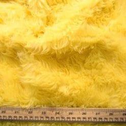 yellow faux fur