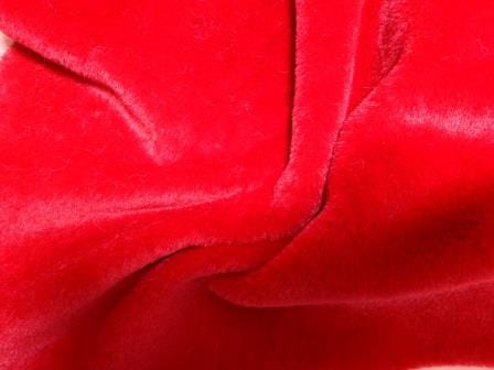 Red Faux Fur Fabric Premier Plush