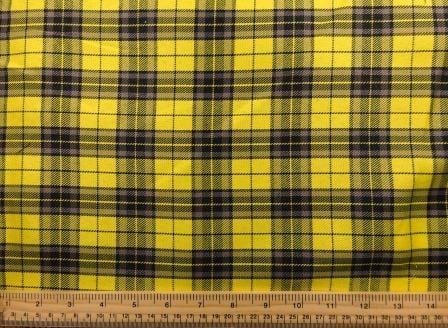 Polyester Tartan Scottish Suiting Fabric yellow stewart