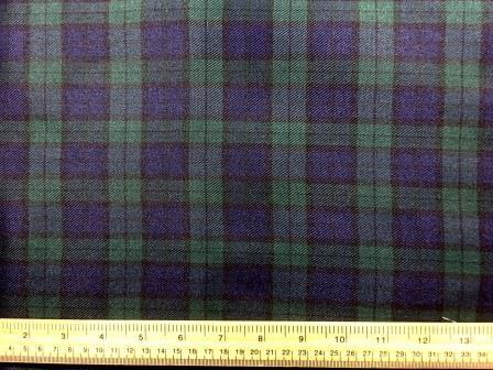 Polyester Tartan Scottish Suiting Fabric black watch