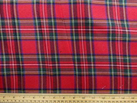 Polyester Tartan Scottish Suiting Fabric red stewart