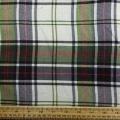 Polyester Tartan Scottish Suiting Fabric khaki ken stewart