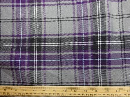 Polyester Tartan Scottish Suiting Fabric heather stewart