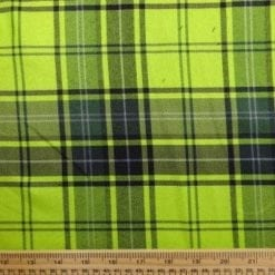 Polyester Tartan Scottish Suiting Fabric lime stewart