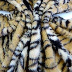 Faux Fur Patterned Animal Tiger code jb