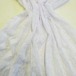 Lycra Lace Fabric Purbeck Stretch white