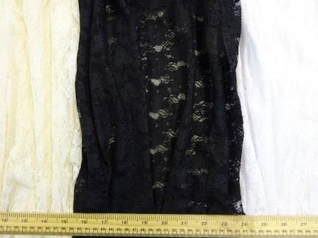Lycra Lace Fabric Purbeck Stretch