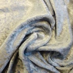 Crushed velvet fabric silver grey