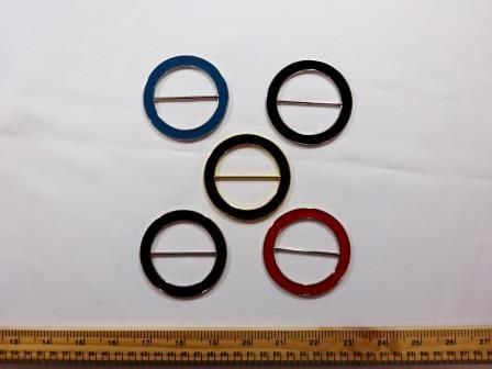 Enamel Coloured Buckles