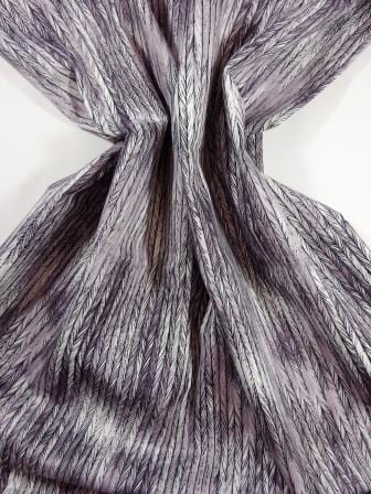 Cotton Fabric Bo Ho Herringbone Grey