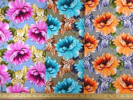 Cotton Fabric Caribbean Carnation