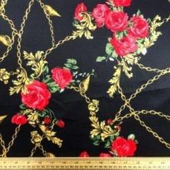 Scuba Jersey Fabric Giovani Chains