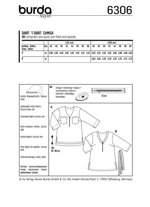 Burda Sewing Pattern 6306
