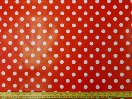 PVC Tabling Fabric Minnie Mouse Spot Red