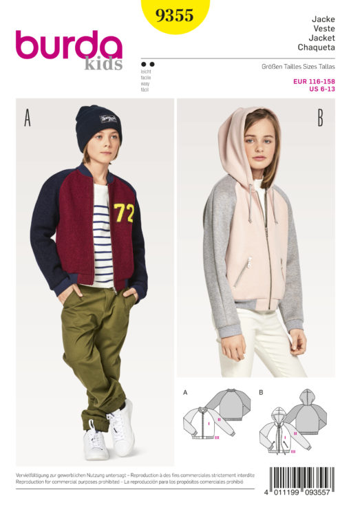 childrens jacket sewing pattern