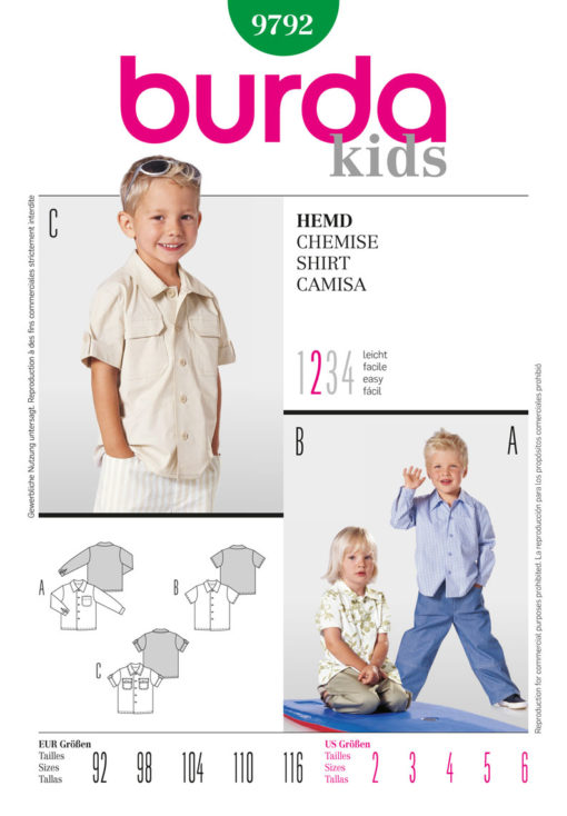 Burda Sewing Pattern 9792