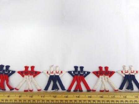 Trimming Braid Dancing Sailors