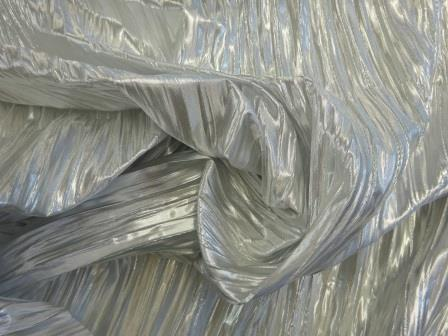 silver metallic crinkle foil