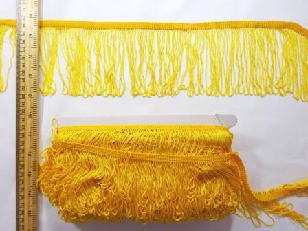"""Fringe 4"""" yellow"""