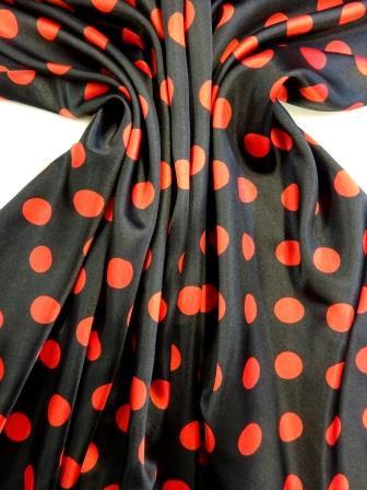 Satin Print Fabric Spanish Spot