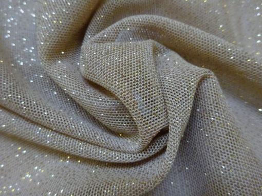 stretch glitter mesh material