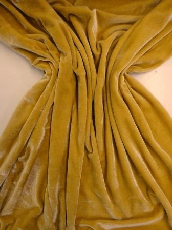 steamed velour gold