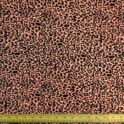 Orange Leopard Print Satin Fabric