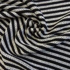 Jacketing Fabric Boucle Al capone black and white stripe
