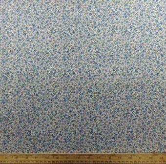Hickory Flowers Blue/Mauve