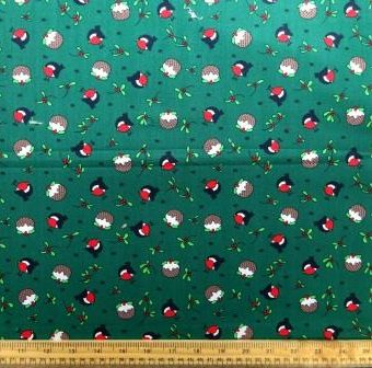 Christmas Robin Pudding Green