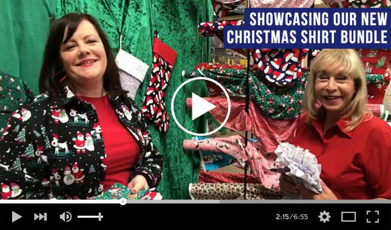 Christmas Shirt Sewing Bundle by Fabric Land