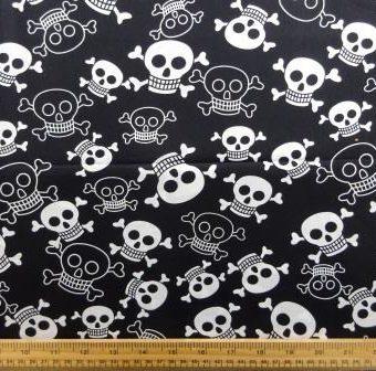 Funky Skulls Black