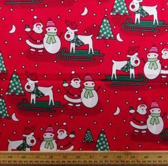 Skiing Reindeer Red
