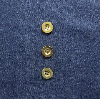 Indigo Stone Washed Mill Dyed Denim (with gold buttons)