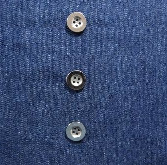 Indigo Stone Washed Mill Dyed Denim (with silver buttons)
