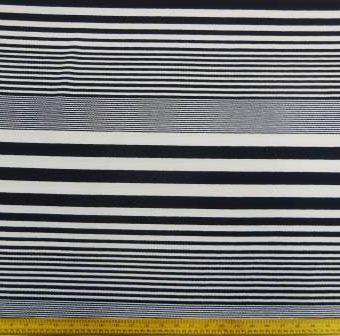 Navy/White Variation Lines Stripe