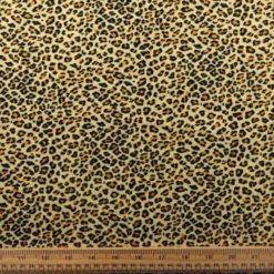 Leopard Print Corduroy Fabric Skinny Rib