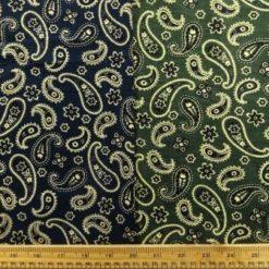 Paisley Printed Corduroy Fabric