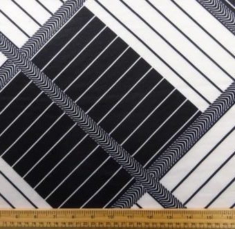 Stripe Linear Illusion Black/White